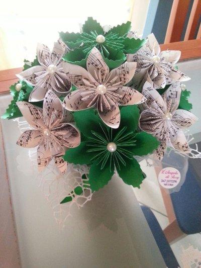 bouquet fiori origami