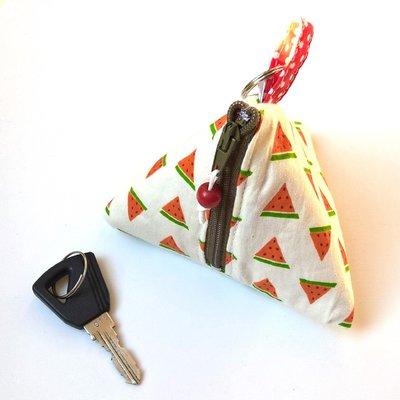 Portamonete e portachiavi triangolare angurie