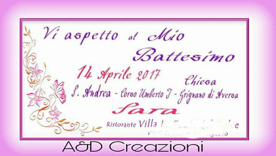 Conosciuto invito battesimo bimba - Feste - Biglietti e inviti - di  WC88