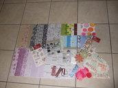 Kit scrapbooking - carte e abbellimenti