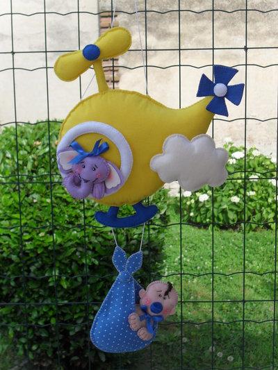 Fiocco nascita...elicottero porta bimbi