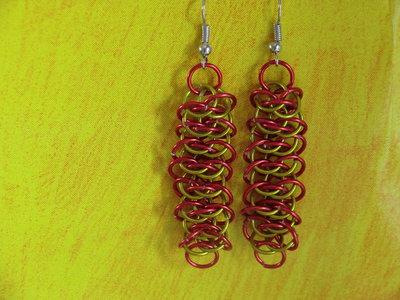 Aluminium Viper's Earrings