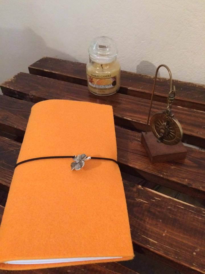 Midori Traveler's Notebook, Quaderno del Viaggiatore con copertina in feltro
