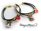 Braccialetto da donna con gatto kitty e cuore rosso bracciale gattino idea regalo