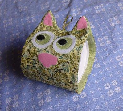 Porta rotolo (di scorta) gatto verde