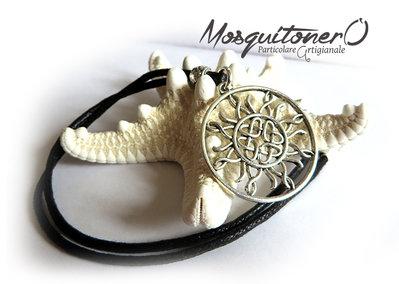 Collana Sole Celtico in metallo nickel free argento unisex uomo donna