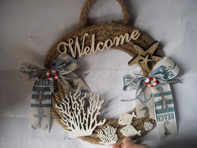Ghirlanda marina,decorazione estiva per casa al mare,decorazione barca,decorazione estate,tema mare