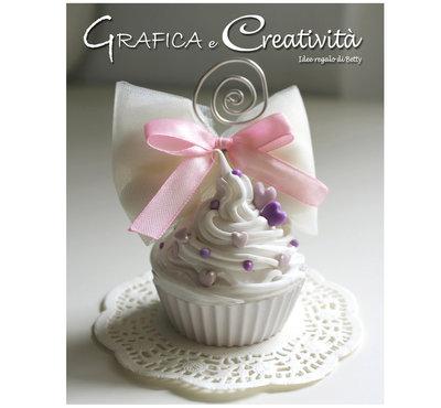 Bomboniera cupcake in gesso/silicone