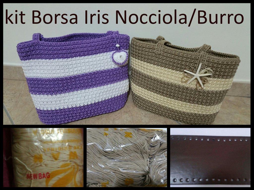 Kit borsa Iris corda/burro