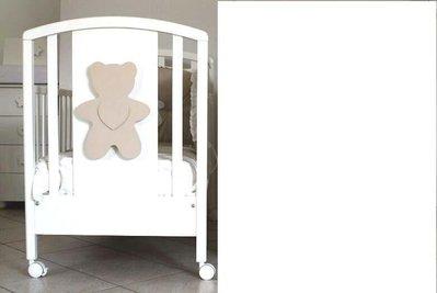 INSERZIONE PER NICOLETTA - lotto legno camertta orsetti tortora con cuore bianco no fimo