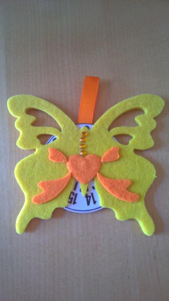 Disco Orario Farfalla Idea Regalo Bomboniere