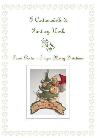 "Cartamodello Ginger ""merry Christmas"" versione CARTACEA"