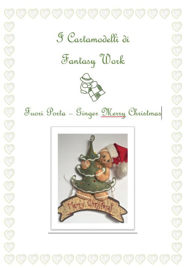 "Cartamodello Ginger ""merry Christmas"" versione PDF"