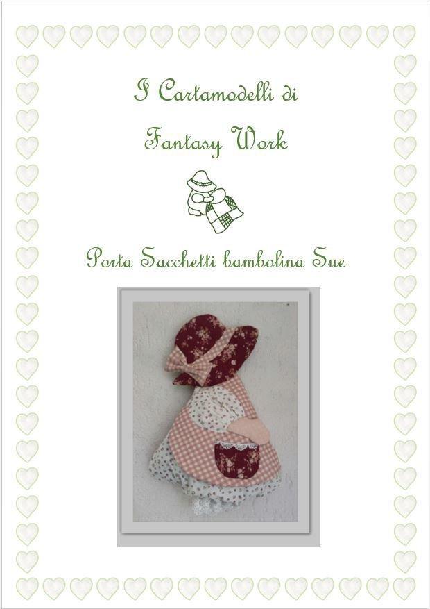 CARTAMODELLO - BAMBOLINA SUE PORTA SACCHETTI - versione PDF