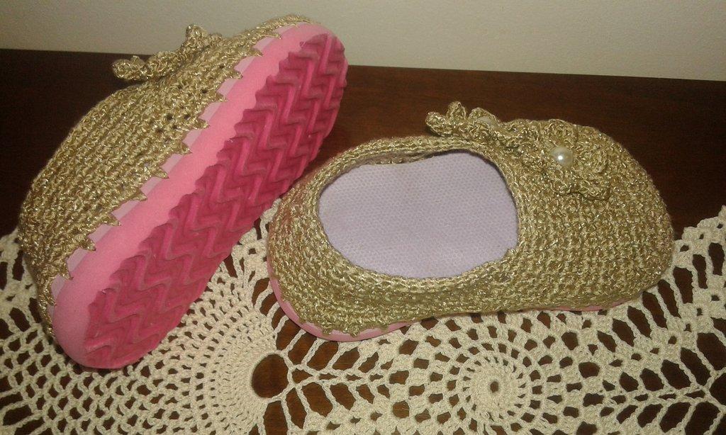 22 Beige Flessibile Scarpe M Bimba Oro Colore Suola All uncinetto qx7tHR 601b13d2454