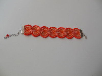 Braccialetto in macramè : arancione