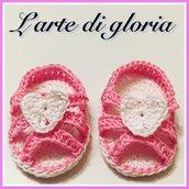 Sandalini neonata all'uncinetto