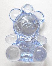 Lotto tre pendenti acrilici orsetto azzurro