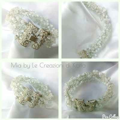 Bracciale donna Knitting whit wire