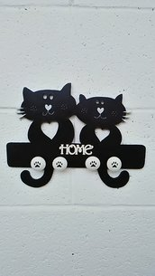 "Decorazione murale "" Black cats"""