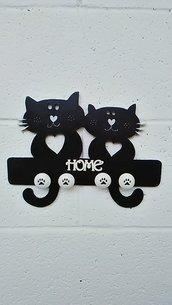 """Decorazione murale """" Black cats"""""""