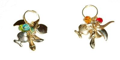 Anello charms bicolore