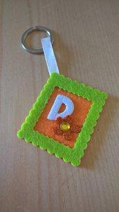 Portachiavi personalizzabile in Feltro Bomboniera Idea Regalo