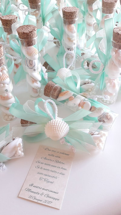 Provetta 10cm provette matrimonio bomboniere vetro segnaposto su misshobby - Idee originali per segnaposto matrimonio ...