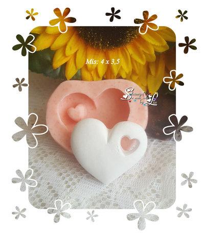 Stampo *cuore forato con cuoricino*