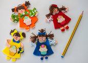 Bambola portachiavi colorata