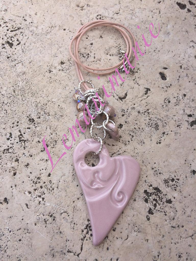 #collana #lunga #cuore #ceramica