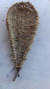 Graticcio intrecciato a mano di vitalba grezza per essiccare fichi e frutta