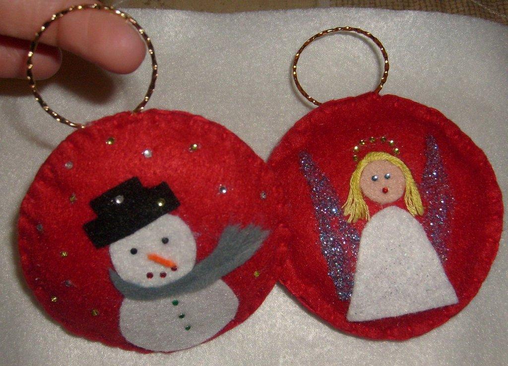 decorazioni natalizie pannolenci