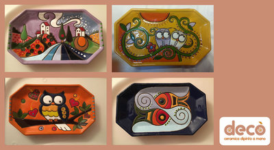 Svuota tasche in ceramica dipinto a mano