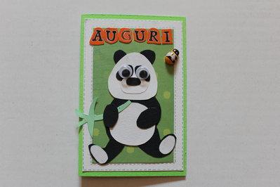 Biglietto Auguri Compleanno - Panda