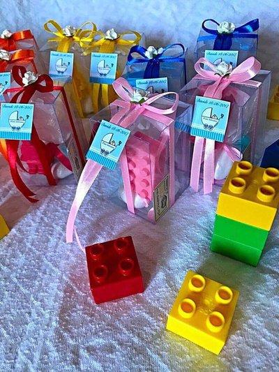 Matrimonio Tema Lego : Bomboniere a tema lego feste bomboniere di le creazioni di