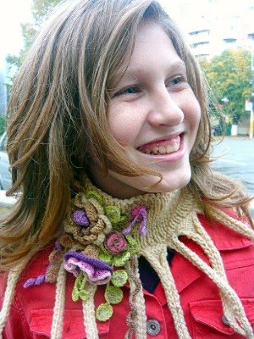 Octopus Beige scarf