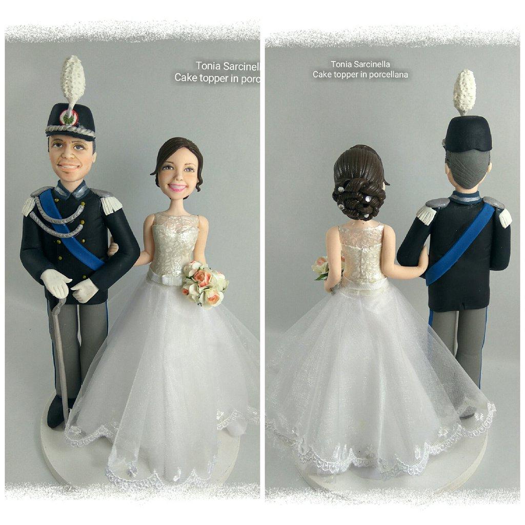 Cake topper personalizzati sposo in divisa