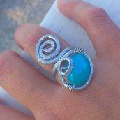 anello wire azzurro cielo