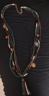 collana gipsy azzurra