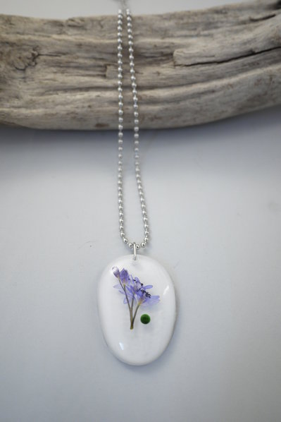 Natura in Resina - Fiori Viola con strass -