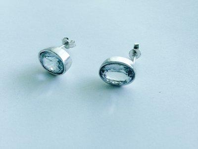 Orecchini acquamarina e argento