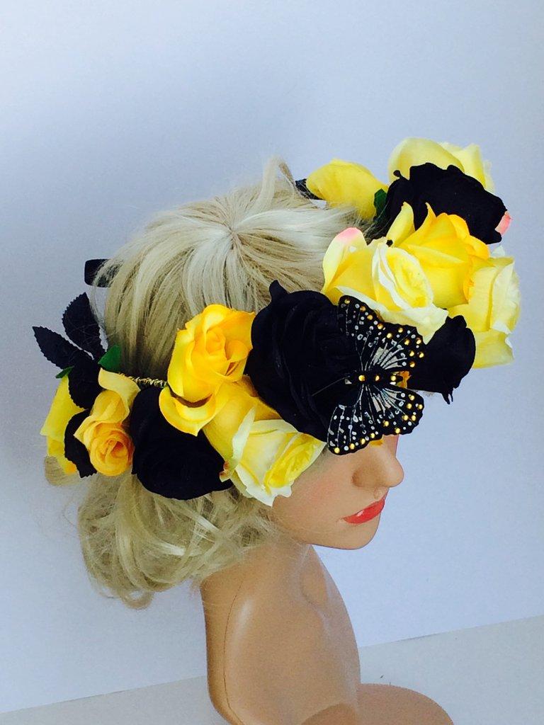 Corona per capelli giallo