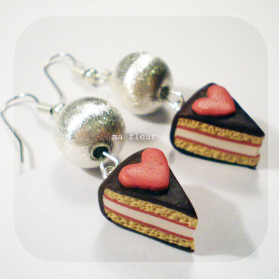 I heart CAKE earrings