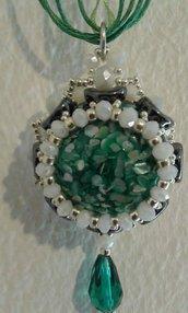 Pendente verde smeraldo