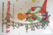 Bracciale Il Piccolo Principe Le petit Prince aviatore volpe la rosa vanitosa Elefante Serpente pecora arbusti asteroide galassia anime romanzo
