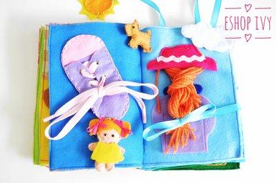 Quiet book personalizzato 10 pagine bambino bambina