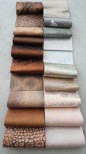 20 Pezzi di pelle del nostro stock di pellami di fantasia, 12 cm x 15 cm  C40