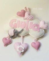 Fiocco nascita - Nuvoletta Giulia