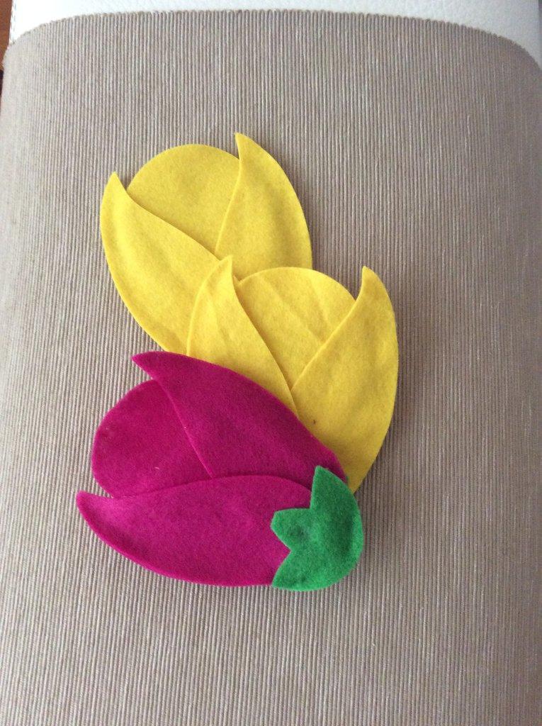 sacchetto pannolenci tulipano